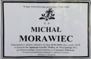 Nekrolog - Michał Morawiec